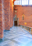 Blue Hall in Stockholm City Hall Stock Photo
