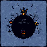 Blue Halloween background Royalty Free Stock Photos