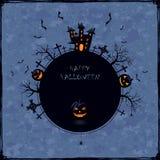 Blue Halloween background Royalty Free Stock Photos