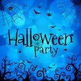Blue Halloween invitation cover template Stock Photos