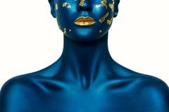Blue Halloween Makeup Stock Image