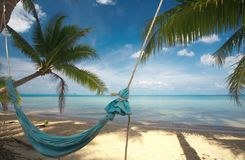 Blue hammock Royalty Free Stock Images