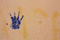 Blue hand Royalty Free Stock Images