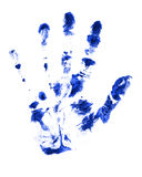 Blue hand Royalty Free Stock Image