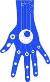 Blue_hand illustration stock