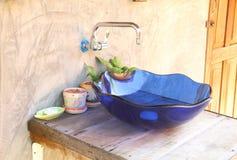 Blue hand basin Royalty Free Stock Photo