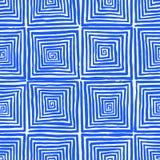 Blue hand-drawn spirals Royalty Free Stock Photos