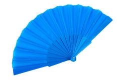 Blue hand fan Stock Photography