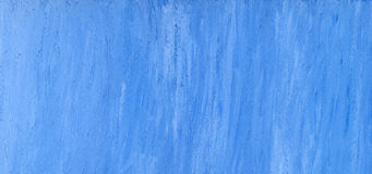 Blue hand painted paper background Stock Images