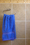 Blue hand towel Stock Images