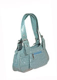 Blue handbag Royalty Free Stock Image