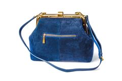 Blue handbag royalty free stock photography