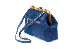 Blue handbag stock photos