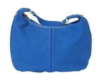 Blue handbag Stock Images