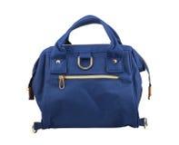 Blue handbag for women isolated on white background Stock Photo