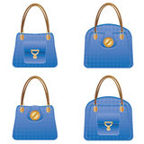 Blue handbags Stock Photo