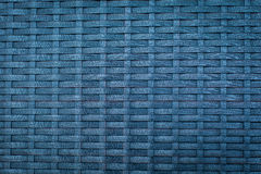 Blue handcraft weave texture Royalty Free Stock Photos