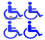 Blue Handicap icons Stock Image