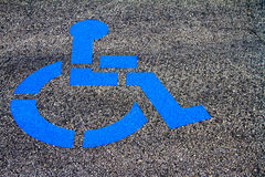 Blue Handicap Parking Emblem Royalty Free Stock Image
