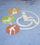 Blue handicapped sign Royalty Free Stock Image