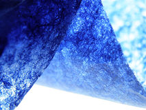 Blue handmade paper Royalty Free Stock Photos
