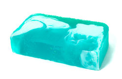 Blue handmade soap Royalty Free Stock Photo
