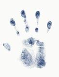 Blue handprint Royalty Free Stock Image