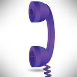 Blue handset Royalty Free Stock Images