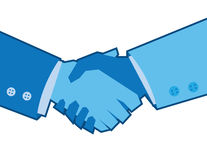 Blue Handshake Stock Photos