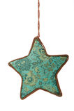 Blue hanging Christmas ornament Stock Photography