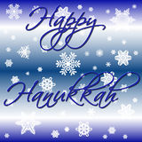 Blue Hanukkah. Varied blues background with white snow Royalty Free Stock Images