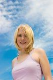 blue happiness skies Στοκ φωτογραφίες με δικαίωμα ελεύθερης χρήσης