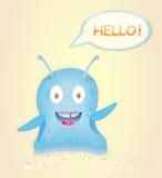 Blue happy alien. Stock Photography