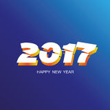 Blue happy new year 2017 background. Abstract happy new year 2017 background royalty free illustration