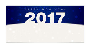 Blue Happy New Year 2017 card Stock Photography