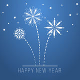 Blue happy new year design Royalty Free Stock Photo