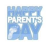 Blue Happy parents day sign Illustration Royalty Free Stock Photos