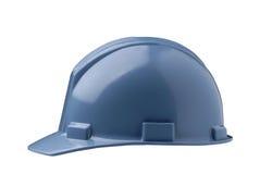 Blue Hard Hat. Shot on white background Royalty Free Stock Photos
