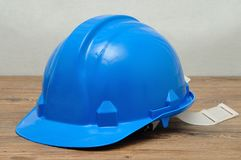 A blue hard hat Royalty Free Stock Photography