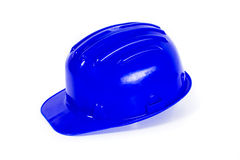 Blue hard hat Stock Photos