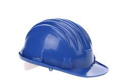 Blue hard hat. Royalty Free Stock Photo