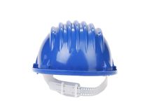 Blue hard hat. Royalty Free Stock Images