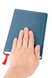Blue hardcover book Stock Photos
