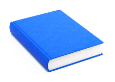 Blue hardcover book. Isolated on white background Stock Photography
