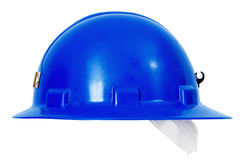 Blue Hardhat Sideview Royalty Free Stock Image