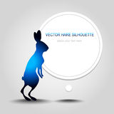 Blue hare silhouette Stock Photo