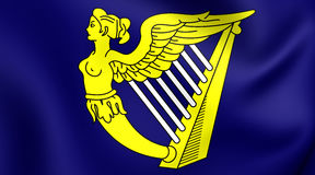 Blue Harp Flag of Ireland Stock Images