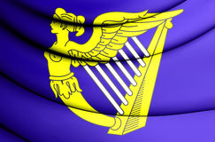 Blue Harp Flag of Ireland. Royalty Free Stock Image