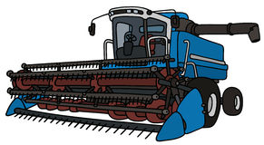 Blue harvester Stock Image