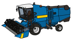 Blue harvester Stock Photo